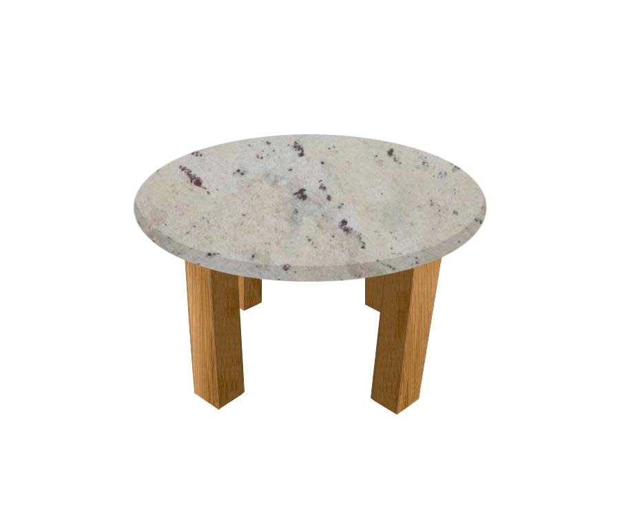 Andromeda Round Coffee Table with Square Oak Legs