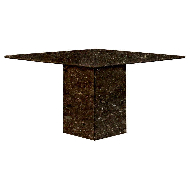 Antique Brown Small Square Granite Dining Table