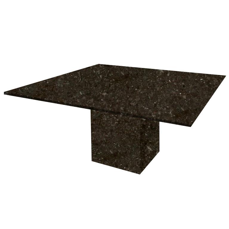 Antique Brown Bergiola Square Granite Dining Table