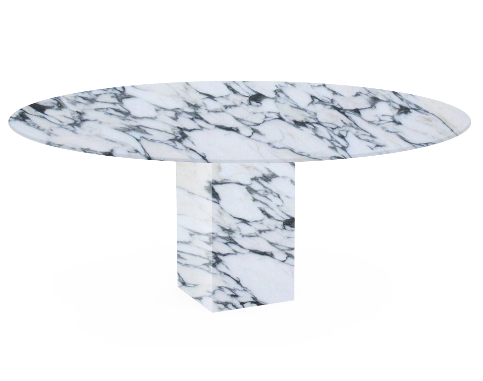 Arabescato Corchia Arena Oval Marble Dining Table