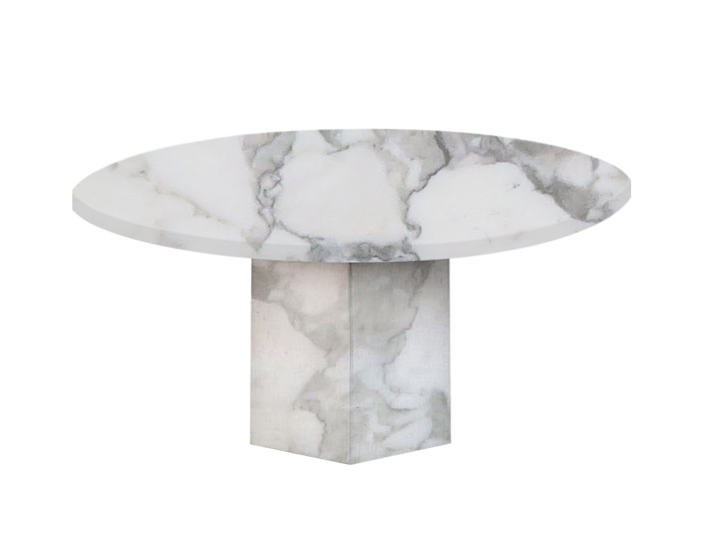 Arabescato Vagli Gala Round Marble Dining Table