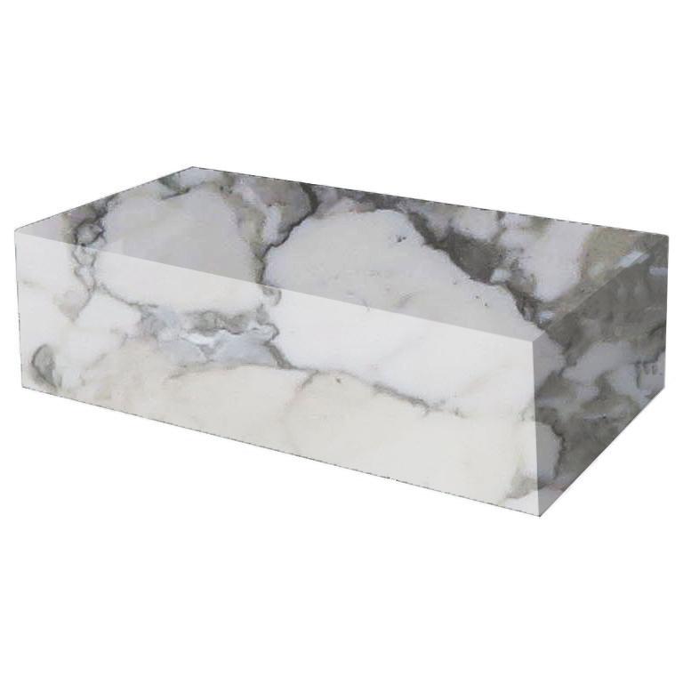 Arabescato Vagli Rectangular Solid Marble Coffee Table