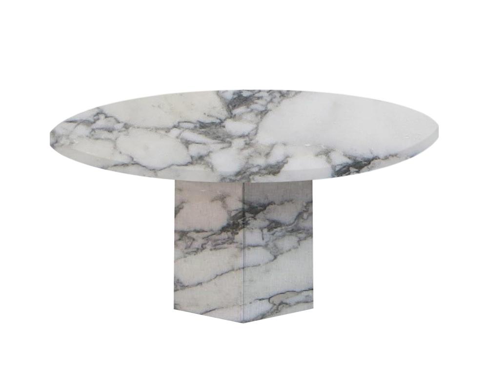 Arabescato Vagli Extra Gala Round Marble Dining Table