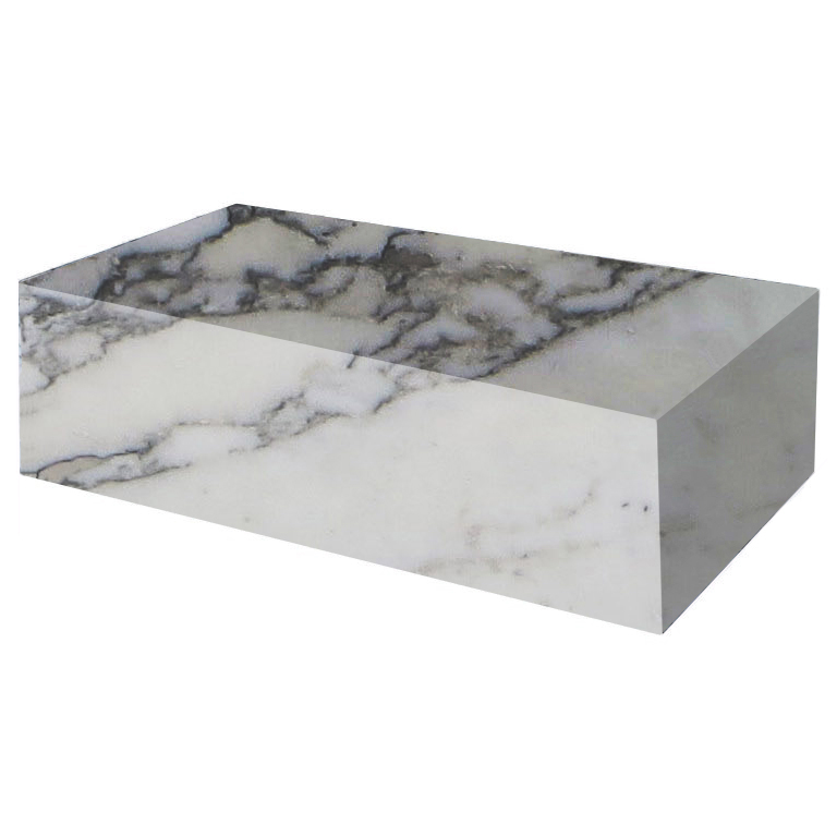 Arabescato Vagli Extra Rectangular Solid Marble Coffee Table