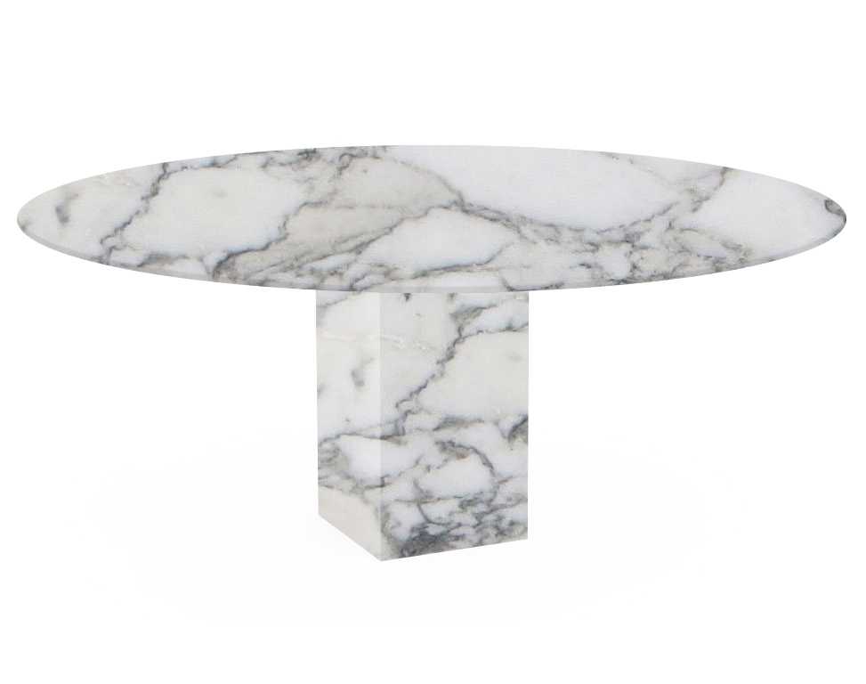 Arabescato Vagli Extra Arena Oval Marble Dining Table