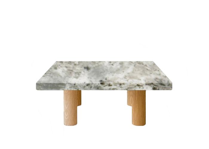 Small Square Aurora Fantasy Coffee Table with Circular Oak Legs
