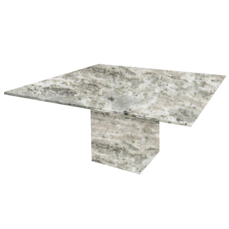 Aurora Fantasy Bergiola Square Marble Dining Table