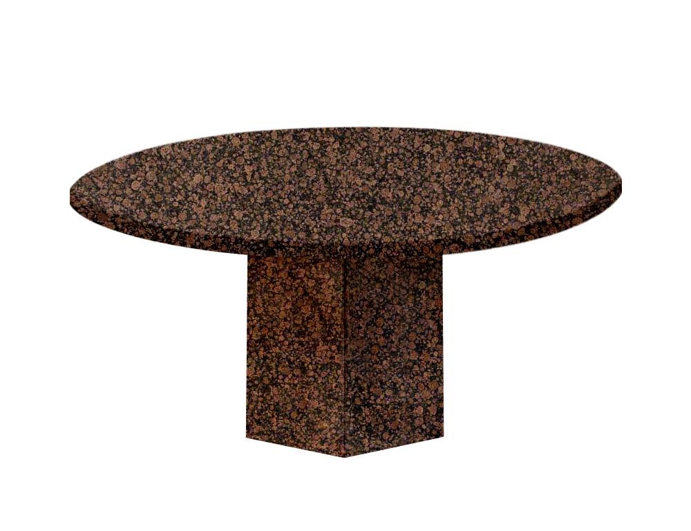 Baltic Brown Gala Round Granite Dining Table