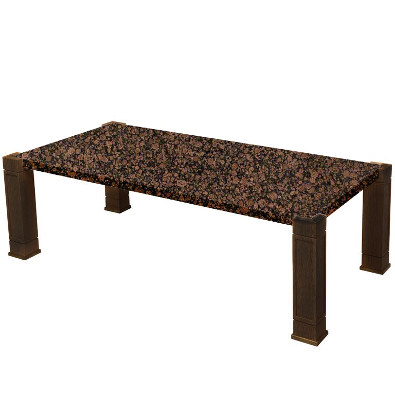 Faubourg Baltic Brown Inlay Coffee Table with Walnut Legs