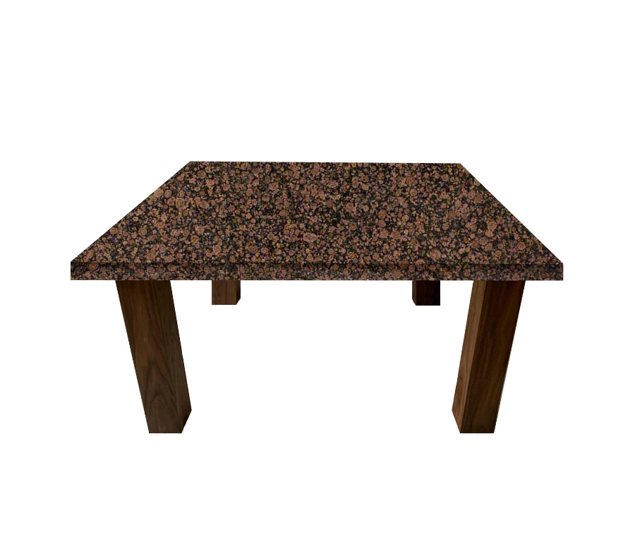 Baltic Brown Square Coffee Table with Square Walnut Legs