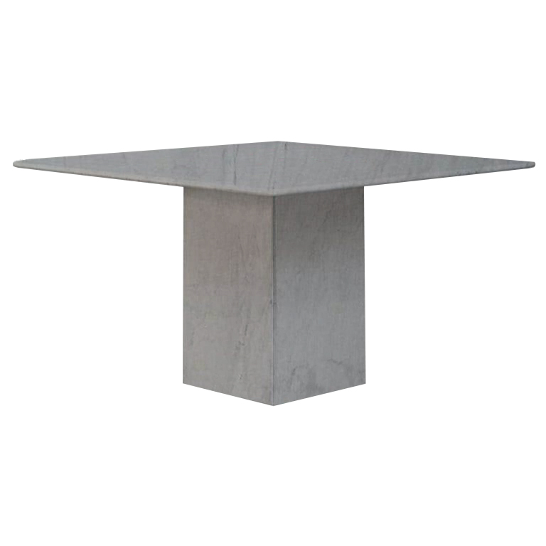 Bardiglio Imperial Small Square Marble Dining Table
