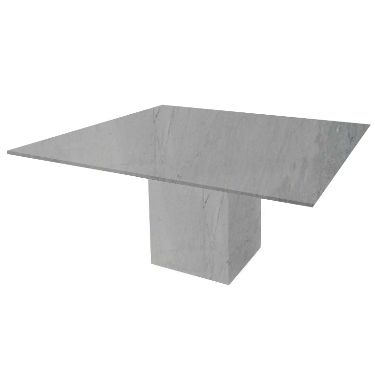 Bardiglio Imperial Bergiola Square Marble Dining Table