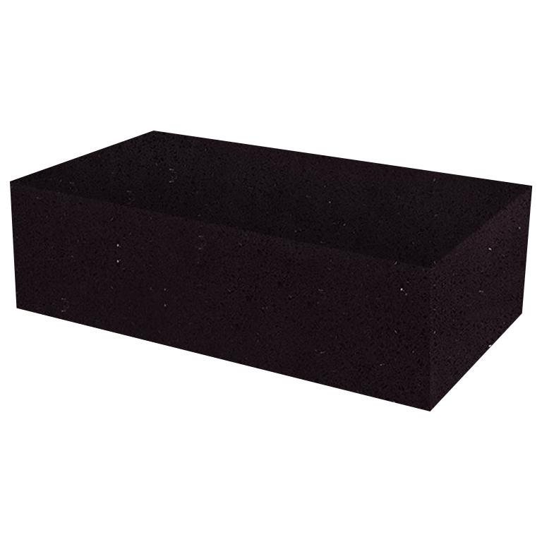 Black Mirror Rectangular Solid Quartz Coffee Table