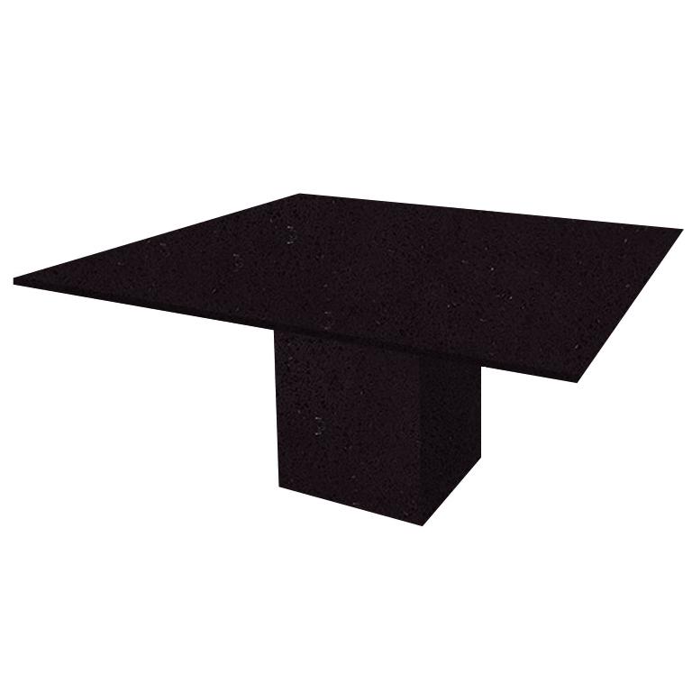 Black Mirror Bergiola Square Quartz Dining Table