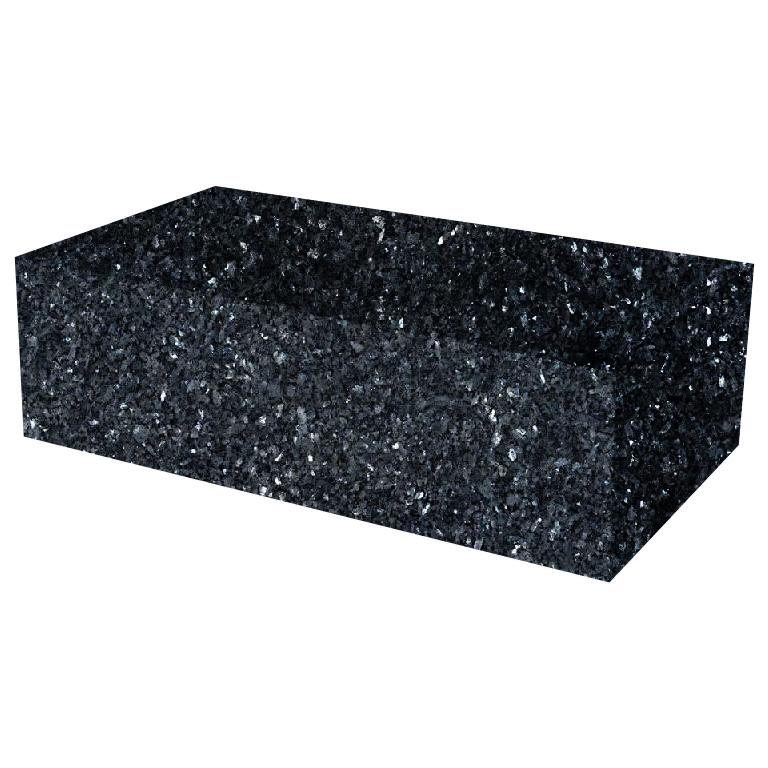 Blue Pearl Rectangular Solid Granite Coffee Table