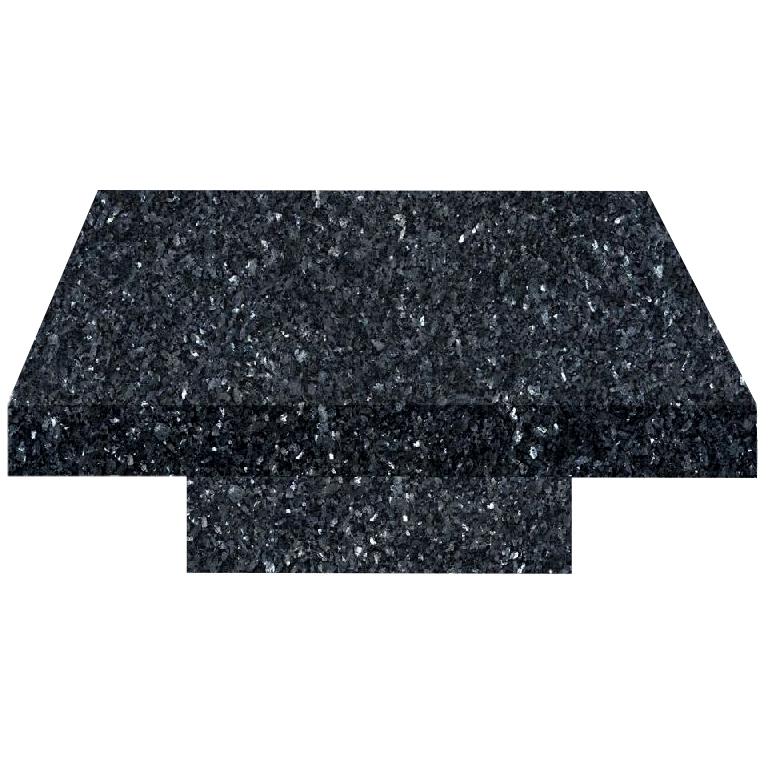 Blue Pearl Square Solid Granite Coffee Table