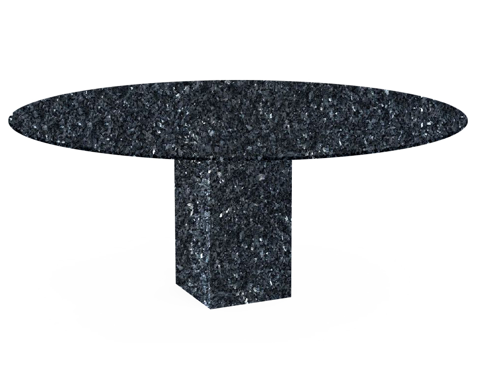 Blue Pearl Arena Oval Granite Dining Table
