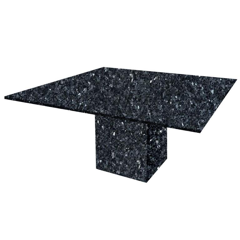 Blue Pearl Bergiola Square Granite Dining Table