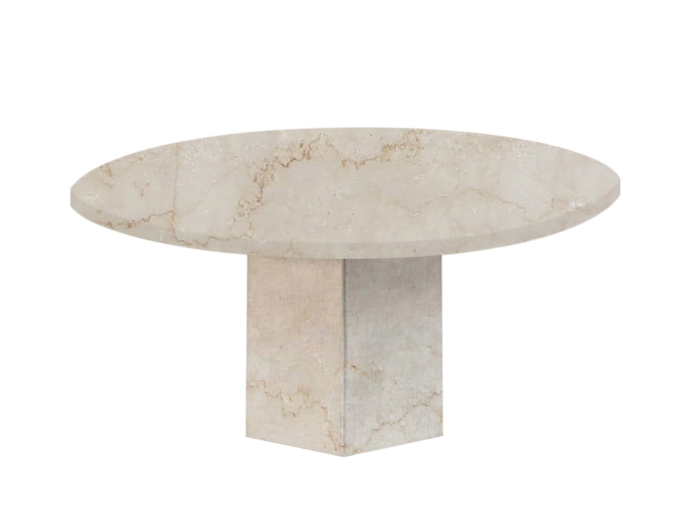 Botticino Classico Gala Round Marble Dining Table