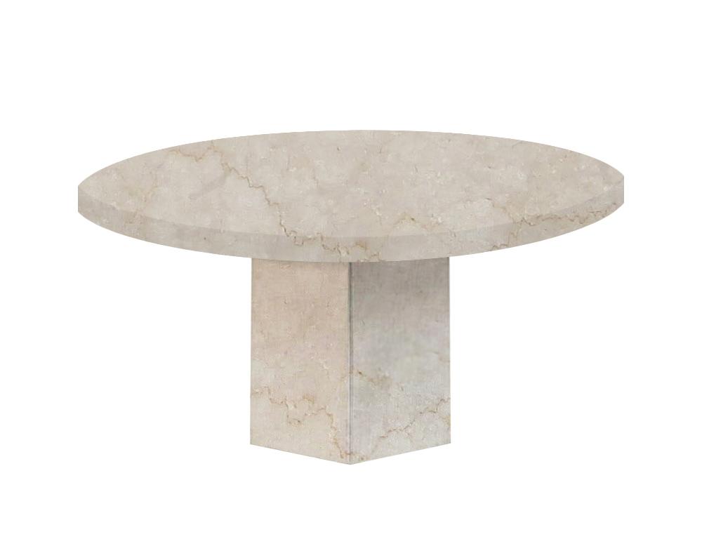 Botticino Classico Santa Catalina Round Marble Dining Table