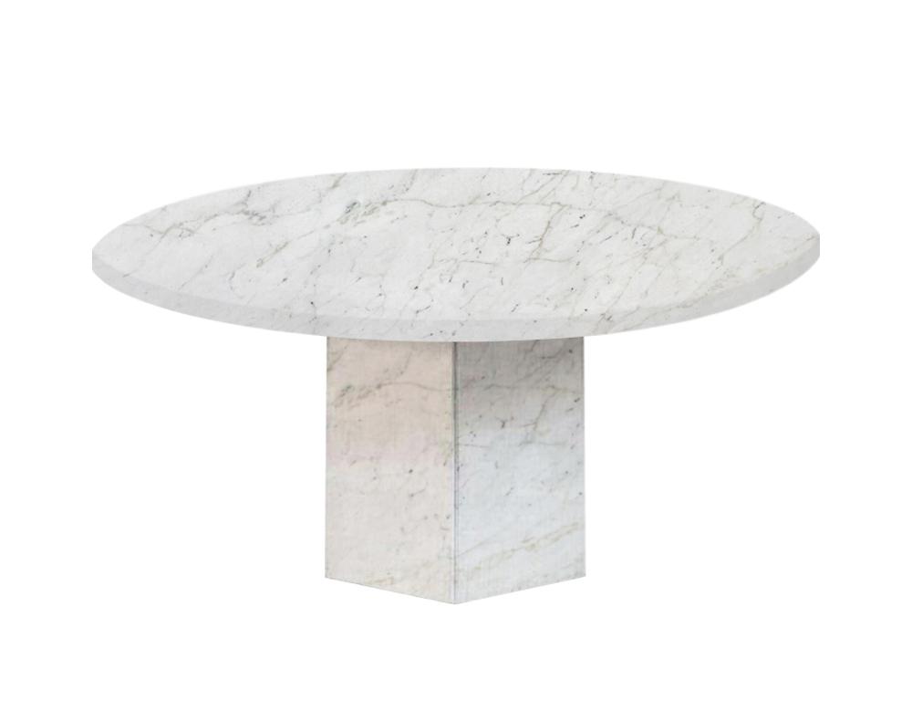 Calacatta Colorado Gala Round Marble Dining Table