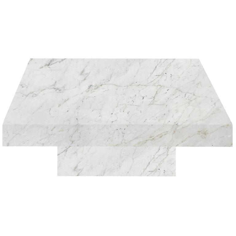 Calacatta Colorado Square Solid Marble Coffee Table