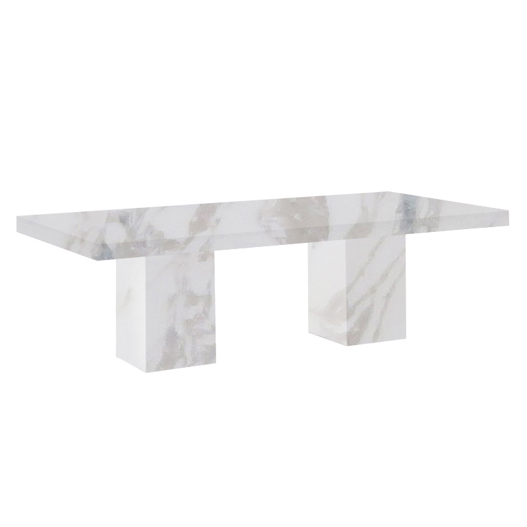 Calacatta Ivory Bedizzano 8 Seater Marble Dining Table