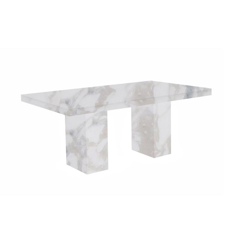 Calacatta Ivory Codena Marble Dining Table