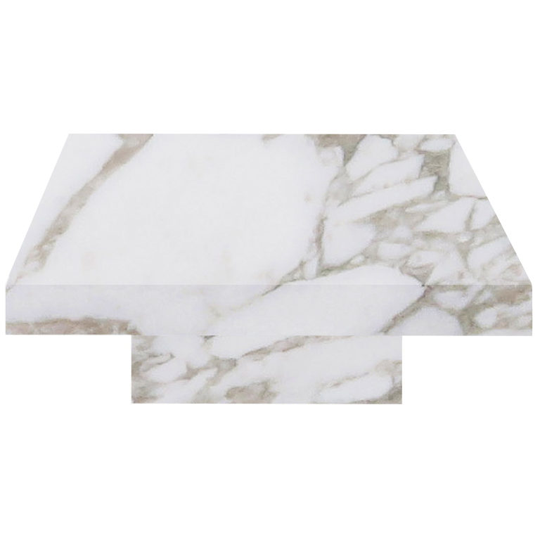 Calacatta Oro Extra Square Solid Marble Coffee Table