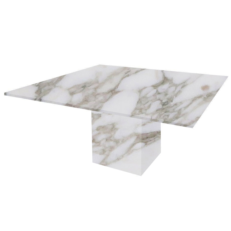 Calacatta Oro Extra Bergiola Square Marble Dining Table