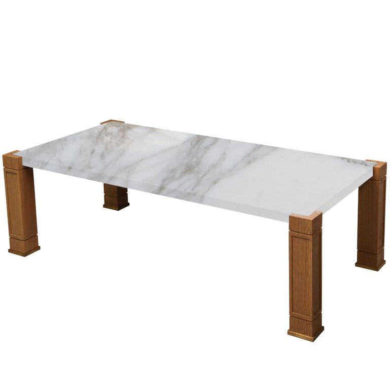 Faubourg Calacatta Oro Inlay Coffee Table with Oak Legs