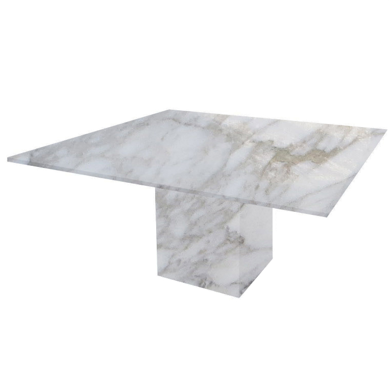 Calacatta Oro Bergiola Square Marble Dining Table