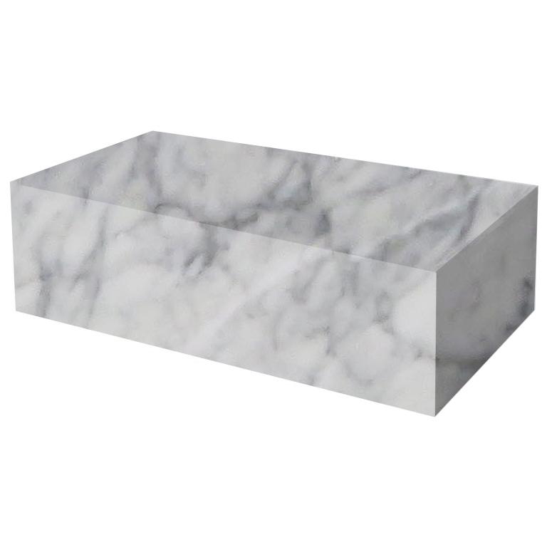 Carrara Rectangular Solid Marble Coffee Table