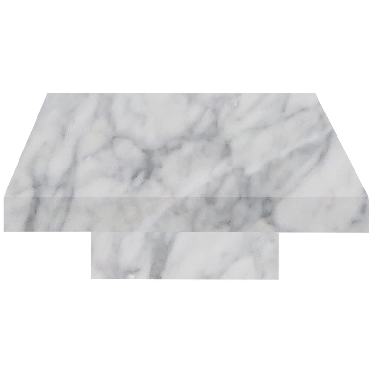 Carrara Square Solid Marble Coffee Table