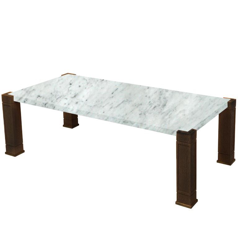 Faubourg Carrara Extra Inlay Coffee Table with Walnut Legs