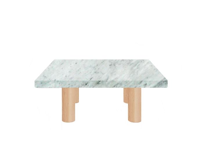 Carrara Extra Square Coffee Table with Circular Ash Legs