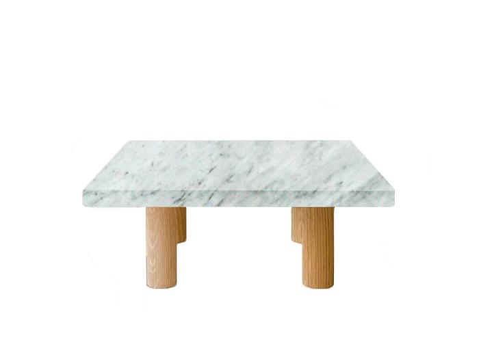 Carrara Extra Square Coffee Table with Circular Walnut Legs