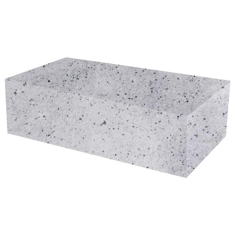 Colonial White Rectangular Solid Granite Coffee Table