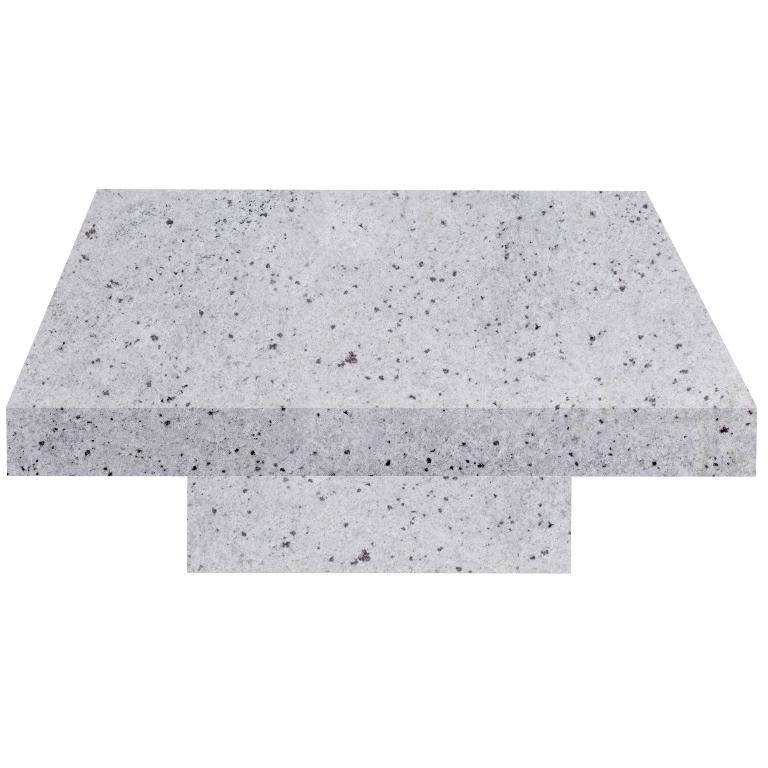 Colonial White Square Solid Granite Coffee Table