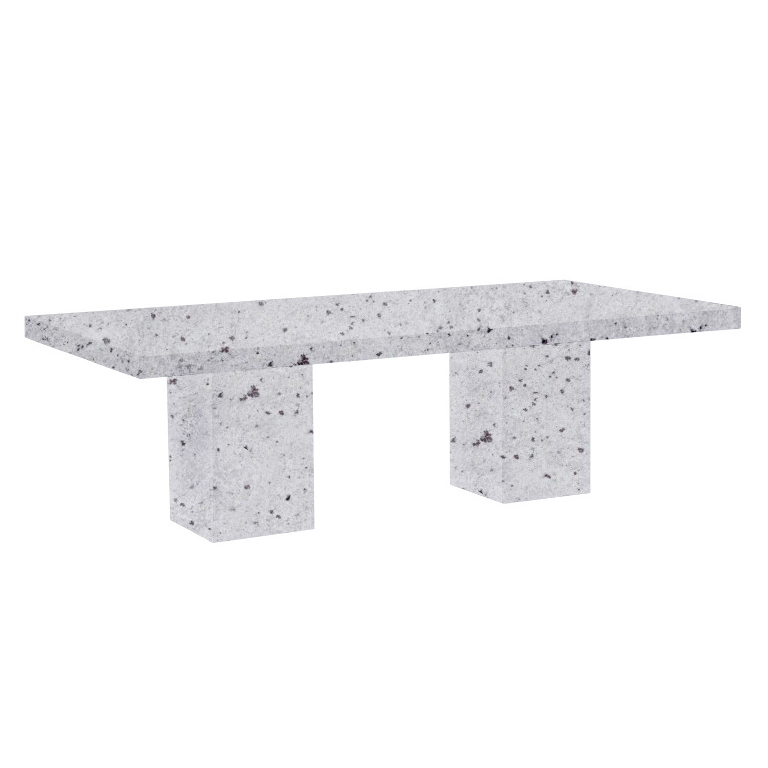 Colonial White Bedizzano 8 Seater Granite Dining Table