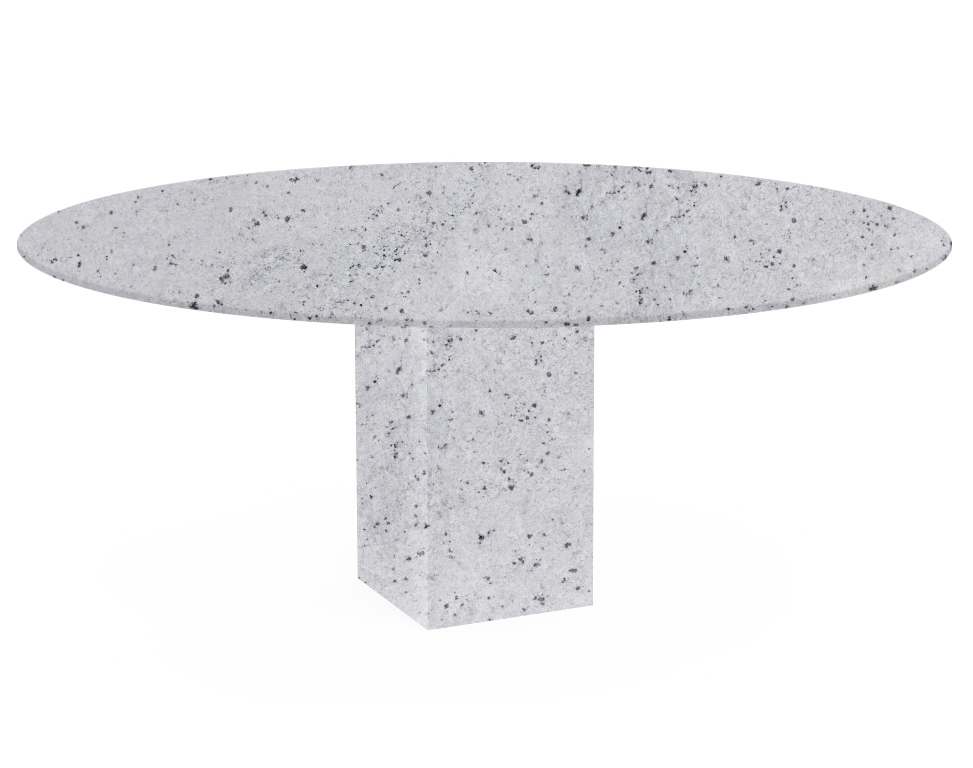 Colonial White Arena Oval Granite Dining Table