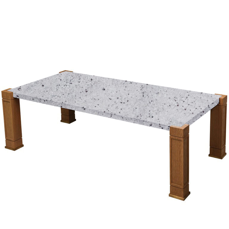 Faubourg Colonial White Inlay Coffee Table with Oak Legs