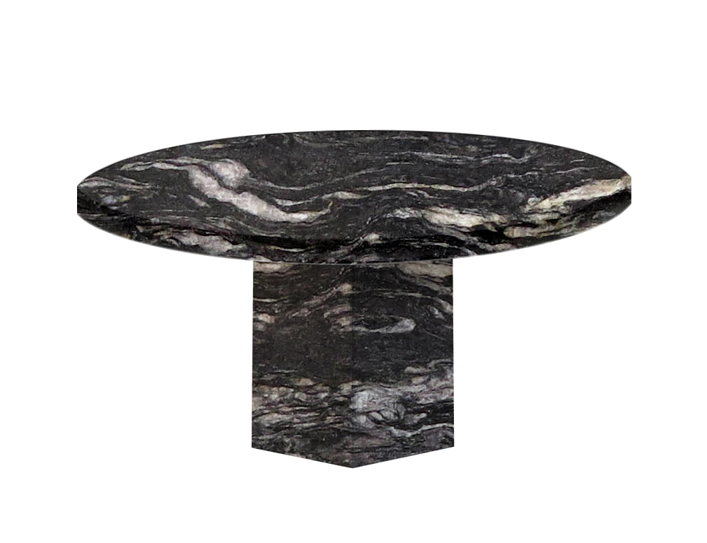 Cosmic Black Santa Catalina Round Granite Dining Table