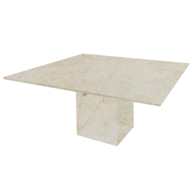 Crema Marfil Bergiola Square Marble Dining Table