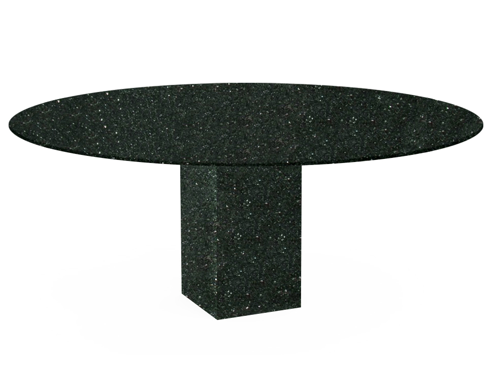 Emerald Pearl Arena Oval Granite Dining Table