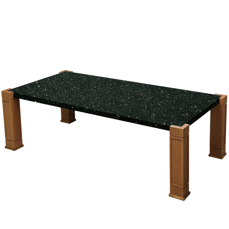 Faubourg Emerald Pearl Inlay Coffee Table with Oak Legs