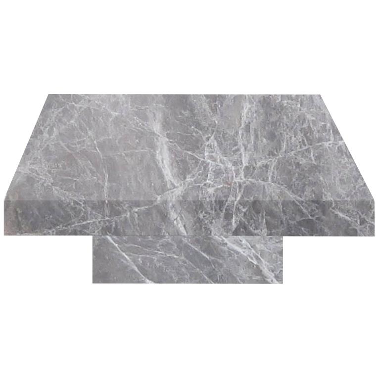 Emperador Grey Square Solid Marble Coffee Table
