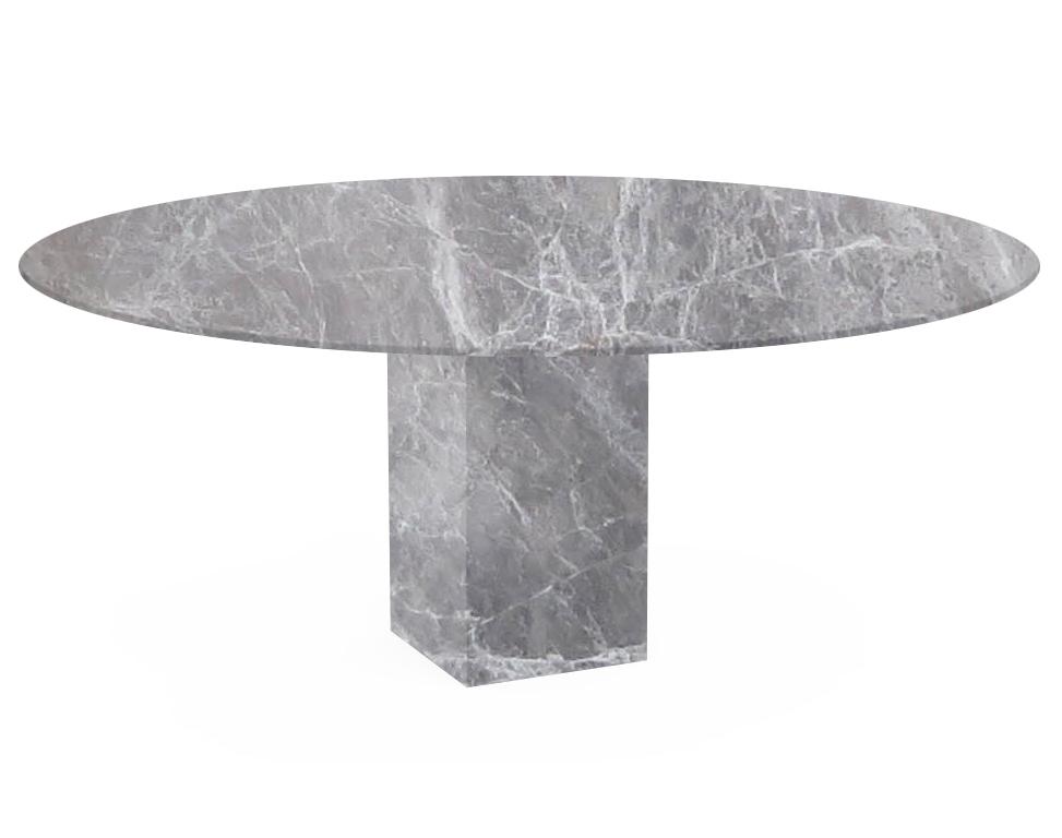 Emperador Grey Arena Oval Marble Dining Table