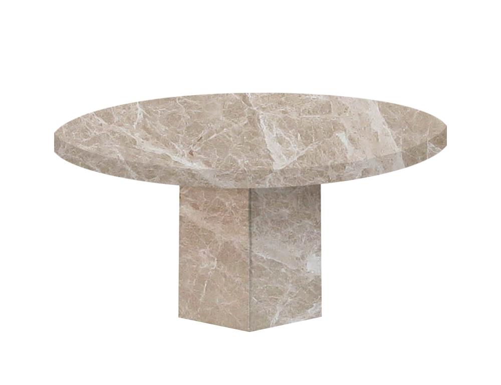 Emperador Light Santa Catalina Round Marble Dining Table