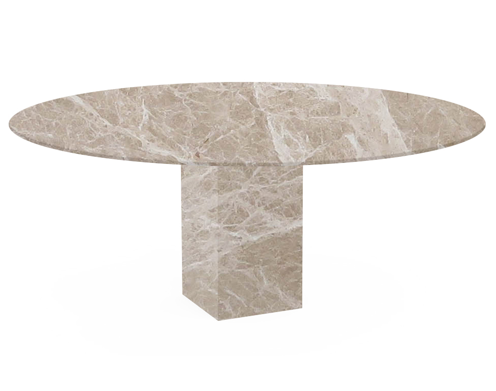 Emperador Light Arena Oval Marble Dining Table